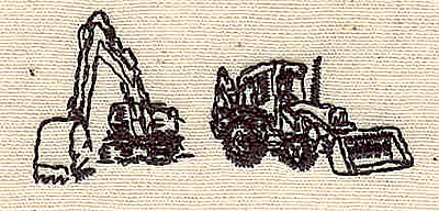 Embroidery Design: Construction equipment 1.81w X 0.81h