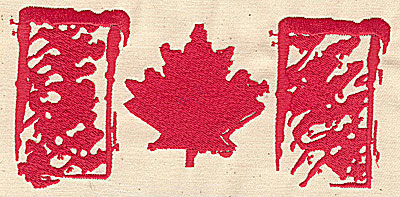 Embroidery Design: Canadian Flag sylized 6.00w X 2.88h