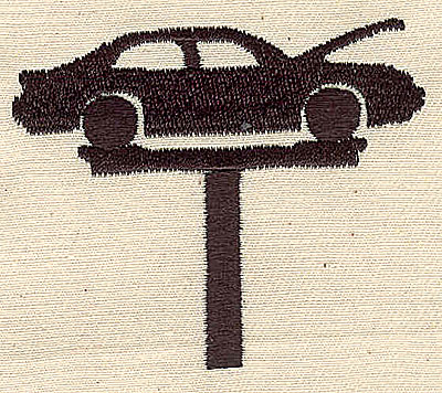 Embroidery Design: Car on hoist 2.56w X 2.48h