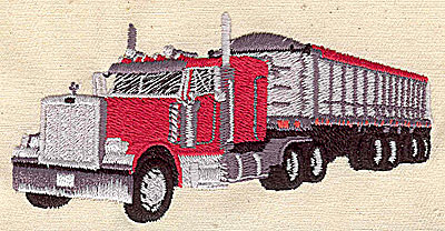 Embroidery Design: Transport truck 3.94w X 1.94h