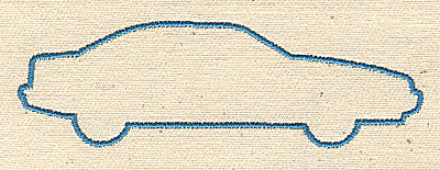 Embroidery Design: Car outline 3.38w X 1.06h