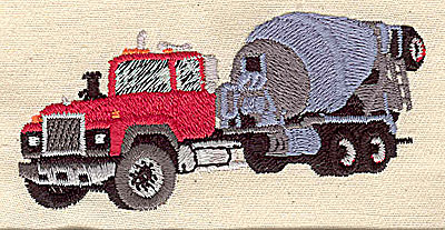 Embroidery Design: Cement truck 3.31w X 1.56h