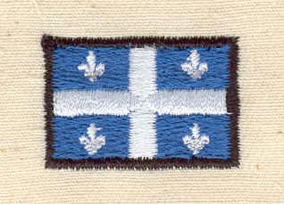 Embroidery Design: Quebec flag 1.06w X 0.69h