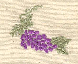 Embroidery Design: Grape cluster 1.25w X 1.00h