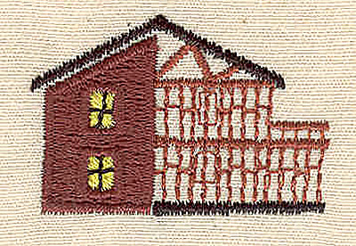 Embroidery Design: House  1.44w X 1.00h
