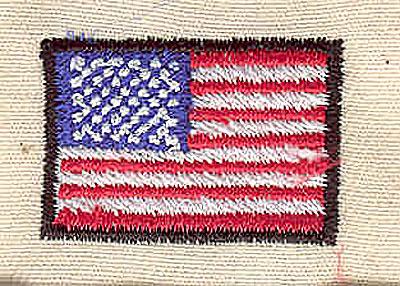 Embroidery Design: American mini flag 1.13w X 0.75h