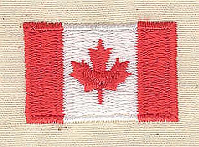 Embroidery Design: Canadian mini flag 1.13w X 0.75h