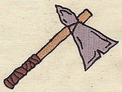 Embroidery Design: Tomahawk 3.44w X 2.56h