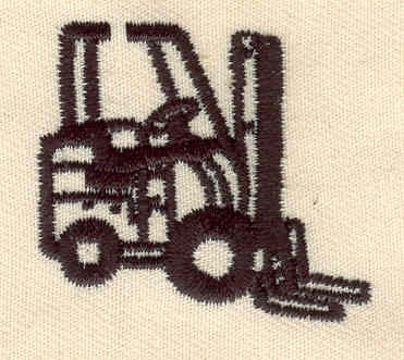 Embroidery Design: Fork lift 1.50w X 1.31h