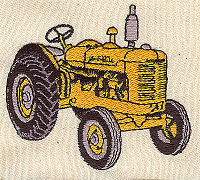 Embroidery Design: Tractor 2.69w X 2.38h