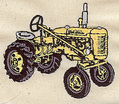 Embroidery Design: Tractor 2.75w X 2.31h