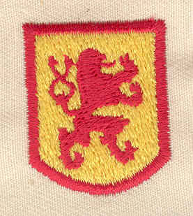 Embroidery Design: Lion shield 1.00w X 1.25h