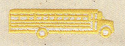 Embroidery Design: School Bus 1.94w X 0.56h