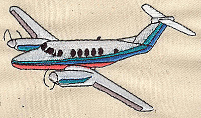 Embroidery Design: Private jet large 3.94w X 2.25h