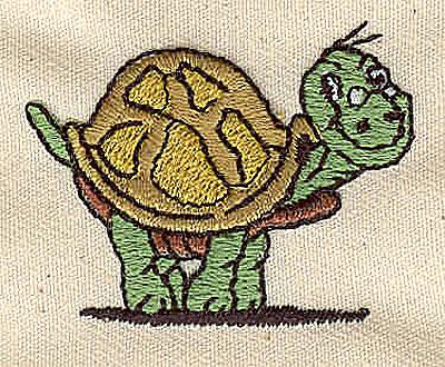 Embroidery Design: Turtle cartoon 1.63w X 1.25h