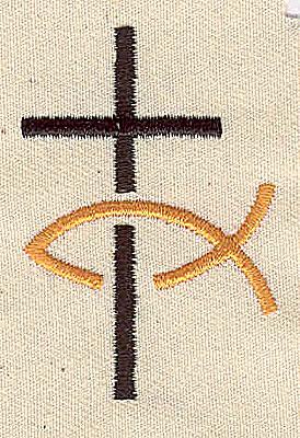 Embroidery Design: Christian symbols 1.31w X 1.94h