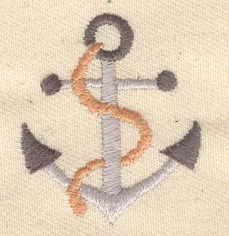 Embroidery Design: Anchor with rope 1.24w X 1.44h