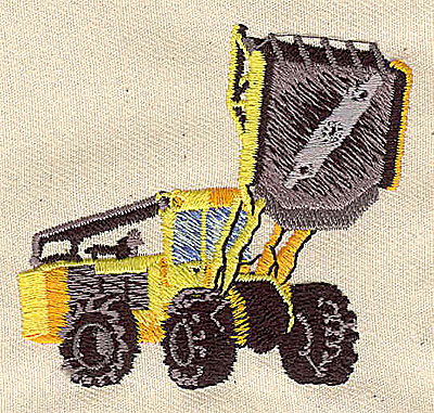 Embroidery Design: Front End Loader 2.44w X 2.48h