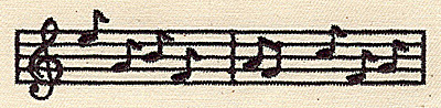 Embroidery Design: Musical notes 4.44w X 1.25h