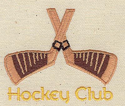 Embroidery Design: Hockey Club 2.38w X 2.00h