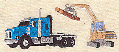 Embroidery Design: Truck with crane 4.75w X 1.94h