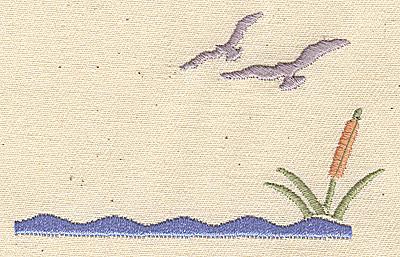 Embroidery Design: Wildlife scene 3.25w X 2.00h