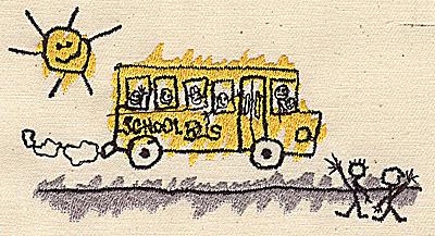 Embroidery Design: School Bus 4.25w X 2.25h