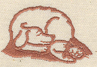 Embroidery Design: Cat and dog sleeping 1.75w X 1.06h