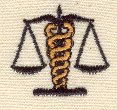 Embroidery Design: Scales of justice 1.19w x 1.00h