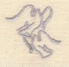 Embroidery Design: Doves 0.88w X 0.88h