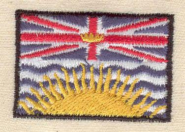 Embroidery Design: British Columbia Flag 1.56w X 1.06h