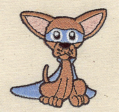 Embroidery Design: Chihuahua 2.13w X 2.19h