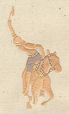 Embroidery Design: Polo player 1.63w X 3.13h