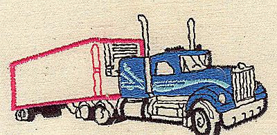 Embroidery Design: Truck 3.50w X 1.69h