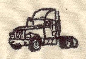 Embroidery Design: Truck  1.13w X 0.69h