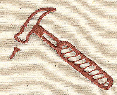 Embroidery Design: Hammer and nail 1.88w X 1.50h