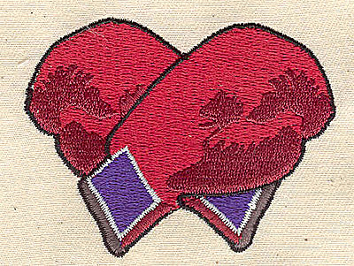 Embroidery Design: Boxing gloves 2.13w X 2.81h