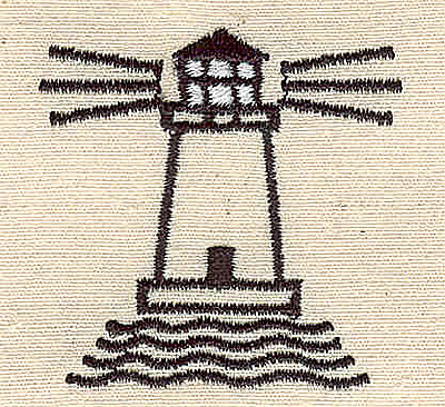 Embroidery Design: Lighthouse 1.63w X 1.69h
