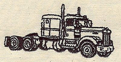 Embroidery Design: Truck 3.00w X 1.44h