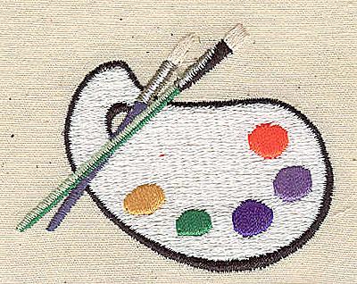 Embroidery Design: Painter's pallette 2.44w X 1.94h