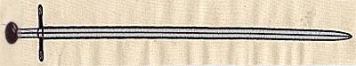 Embroidery Design: Sword 11.88w X 1.88h
