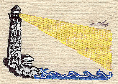 Embroidery Design: Lighthouse 3.19w X 2.13h