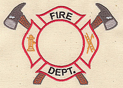 Embroidery Design: Fire Dept. logo 4.31w X 3.13h