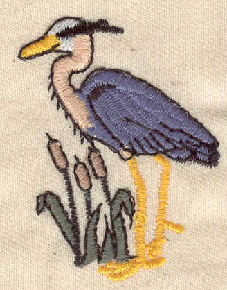 Embroidery Design: Blue heron 1.88w X 1.88h