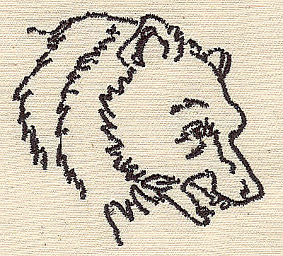 Embroidery Design: Bear head 2.44w X 2.25h