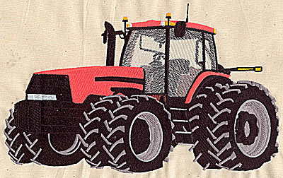 Embroidery Design: Tractor 9.94w X 6.13h