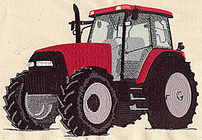 Embroidery Design: Tractor 9.50w X 6.31h