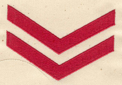 Embroidery Design: Corporal Chevron 3.13w X 2.13h