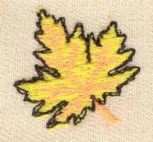 Embroidery Design: Maple Leaf 0.88w X 0.81h