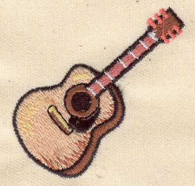 Embroidery Design: Guitar 2.00w X 2.00h